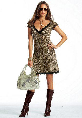 Леопардовое платье купить / заказать леопардовые платья ...леопардовое короткое платье